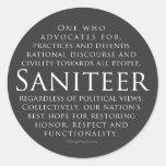 Saniteer (gray) - Stickers