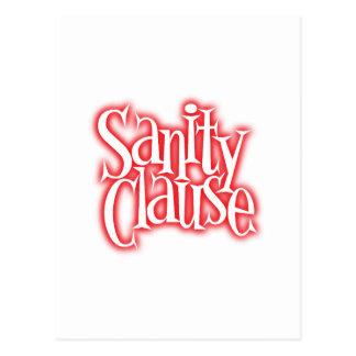sanity clause postcard
