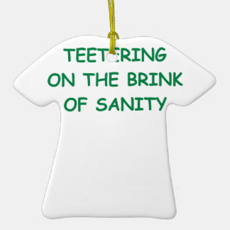 sanity Double-Sided T-Shirt ceramic christmas ornament