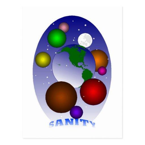 SANITY POST CARD