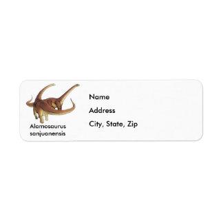 Sanjuanensis del Alamosaurus Etiquetas De Remite