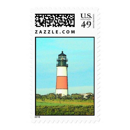 Sankaty Lighthouse, Sconset Postage Stamps
