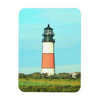 Sankaty Lighthouse Vintage Nantucket Rectangular Photo Magnet
