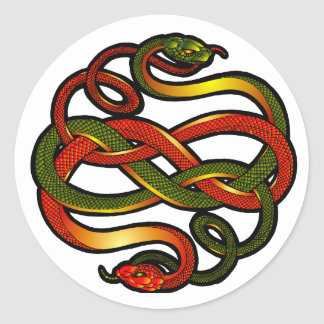 Sanke knotwork classic round sticker