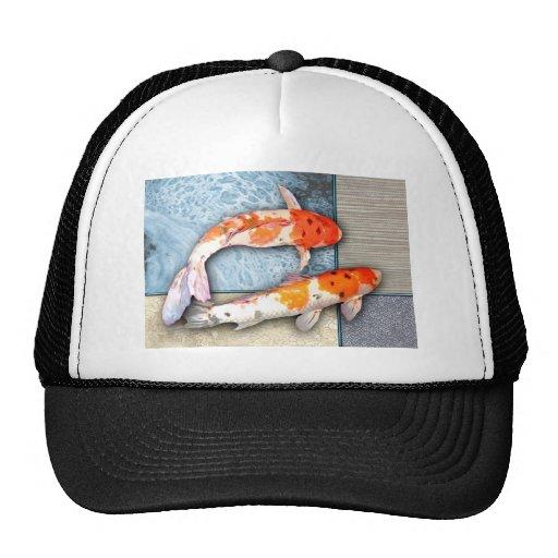 Sanke Koi Twins in Oriental Collage Pool Mesh Hat