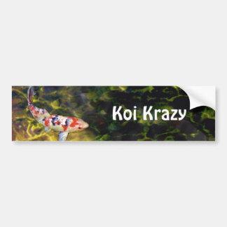 Sanke subacuático Koi Etiqueta De Parachoque