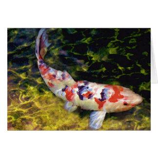 Sanke subacuático Koi Tarjeta De Felicitación