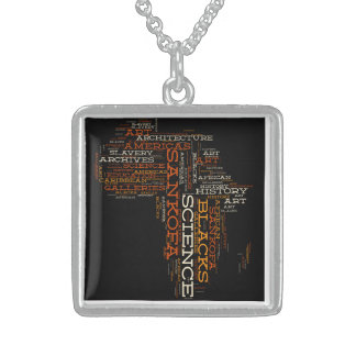 Sankofa Archives Keychains Sterling Silver Necklace