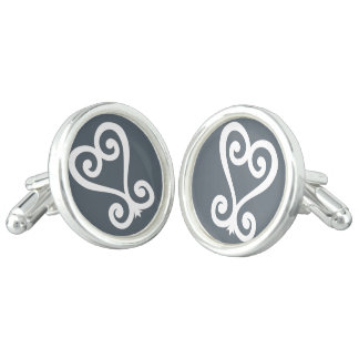 Sankofa | Return and get it - Adinkra Symbol Cufflinks