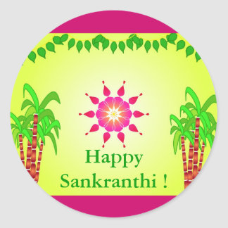 Sankranthi - Indian festival Classic Round Sticker