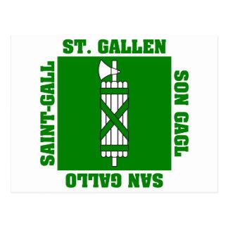 Sankt Gallen Switzerland Canton Flag Postcard