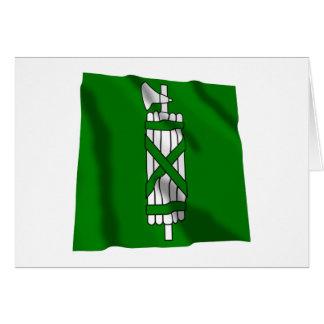Sankt Gallen Waving Flag Card