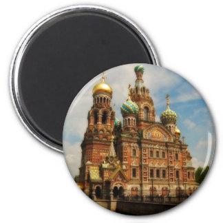 Sankt Petersburgo 01 Imán Redondo 5 Cm