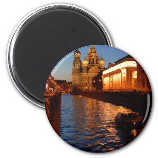 Sankt Petersburgo 02 Imán Redondo 5 Cm