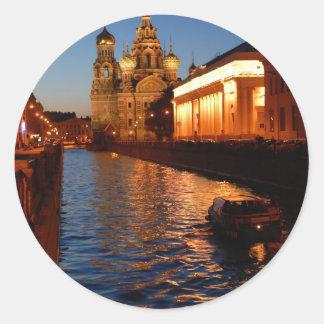 Sankt Petersburgo 02 Pegatina Redonda