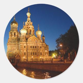 Sankt Petersburgo 04 Pegatina Redonda
