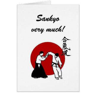 Sankyo very much! card