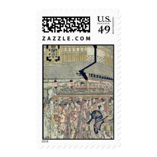 Sanno Festival by Katsukawa,Shunko Stamp
