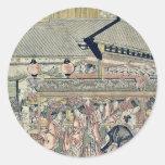 Sanno Festival by Katsukawa,Shunko Round Stickers