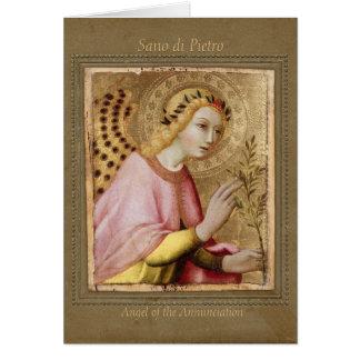 Sano di Pietro Annunciation angel CC0745 Sienese Card