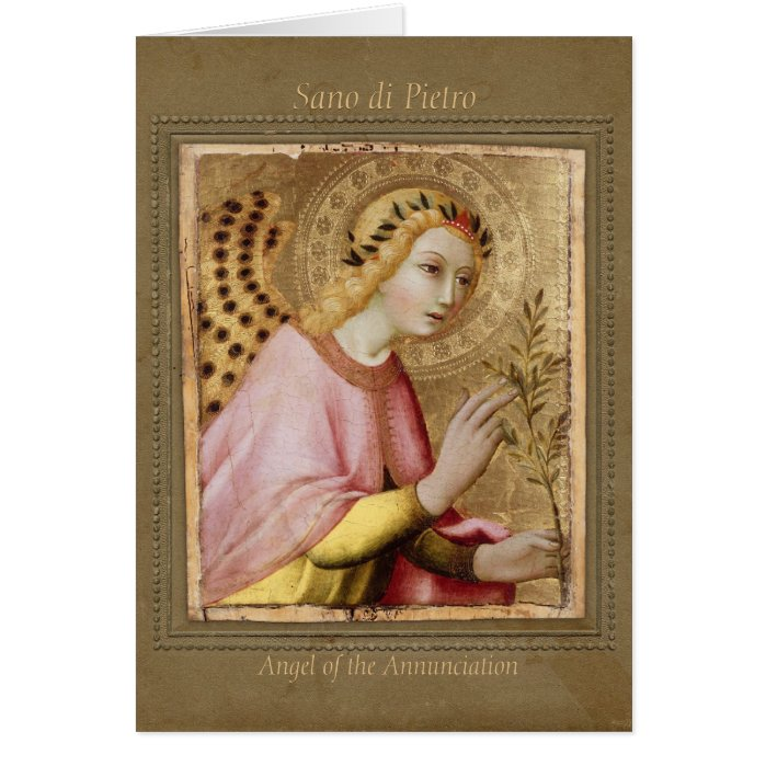 Sano di Pietro Annunciation angel CC0745 Sienese Greeting Card