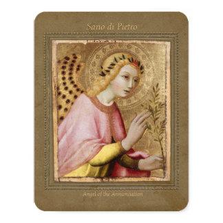 Sano di Pietro Annunciation angel CC0746 Sienese Card