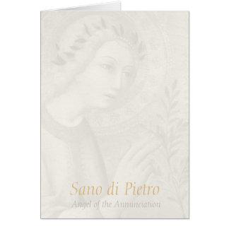 Sano di Pietro Annunciation angel CC0748 Hail Mary Card