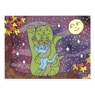 Sano, rico, y sabio en una noche del otoño tarjeta postal