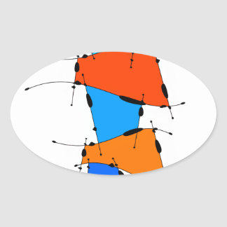 Sanomessia - melting cubes oval sticker