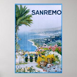 Sanremo, Italy Print (with border)