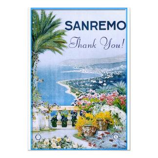 Sanremo, Italy Thank You Invitations