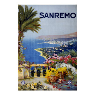 Sanremo Italy Travel Poster
