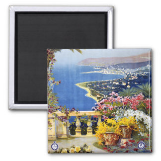 Sanremo Italy Travel Poster 2 Inch Square Magnet