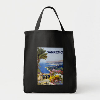 Sanremo Italy Travel Poster Tote Bags