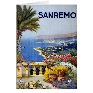 Sanremo Italy Travel Poster Greeting Card