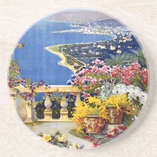 Sanremo Italy Travel Poster Drink Coasters