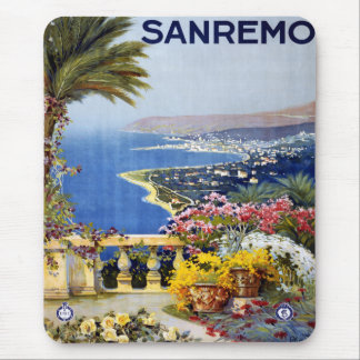 Sanremo Italy Travel Poster Mouse Pad
