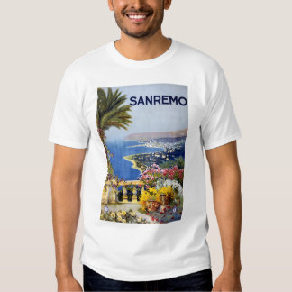 Sanremo Italy Travel Poster T-shirt
