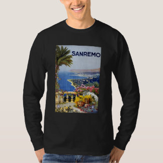 Sanremo Italy Travel Poster T Shirt
