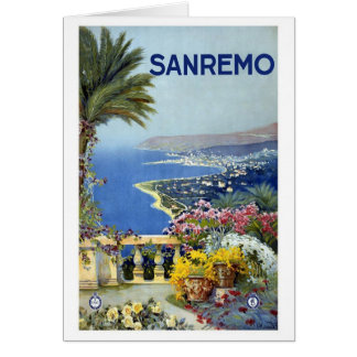 Sanremo Italy Vintage Stationery Note Card