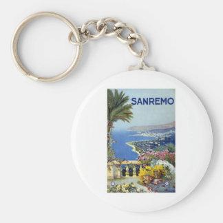 Sanremo Italy Vintage Basic Round Button Keychain