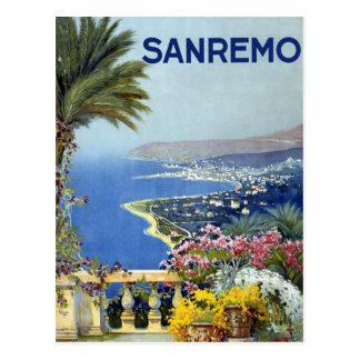 Sanremo Italy Vintage Postcard