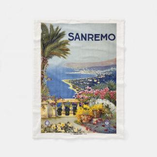 Sanremo Italy vintage travel fleece blanket