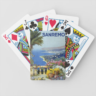 Sanremo Italy Vintage Travel Playing Cards