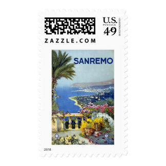 Sanremo Italy Vintage Travel Stamps