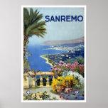 """Sanremo, Italy"" Vintage Travel Poster"