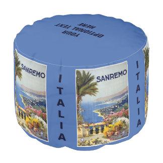 Sanremo Italy vintage travel pouf