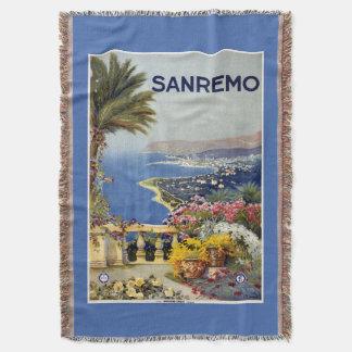 Sanremo Italy vintage travel throw blanket