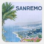 Sanremo, pegatinas cuadrados de Italia Pegatina Cuadradas Personalizada
