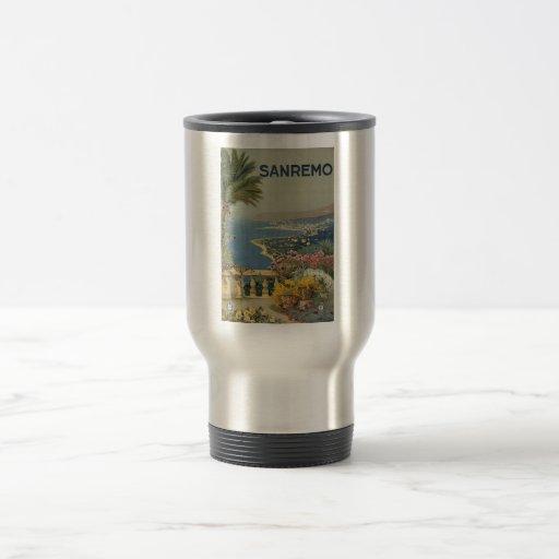 Sanremo poster 1920 15 oz stainless steel travel mug